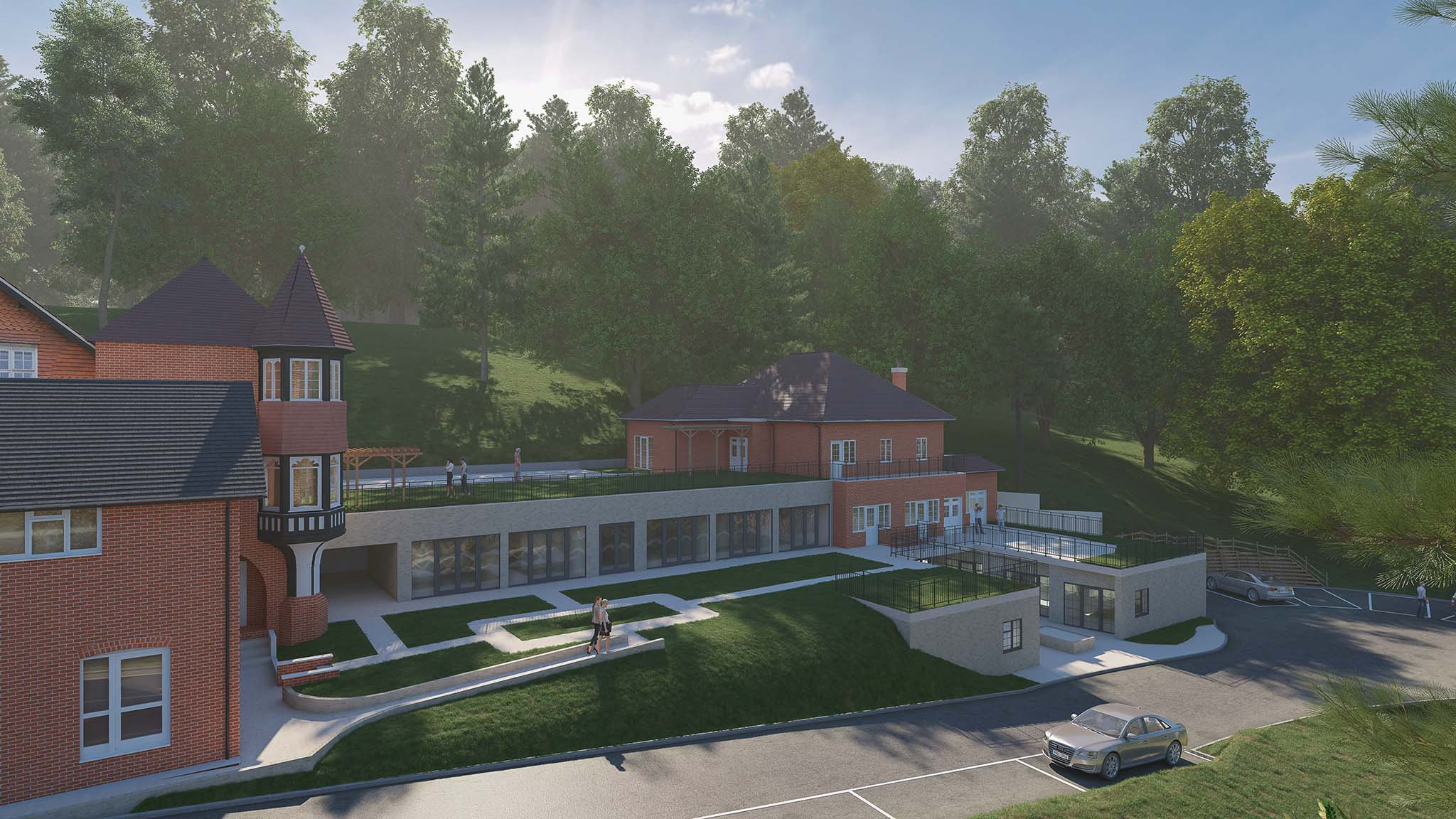 Rendered Image - 3D Landscape - Brownscombe House